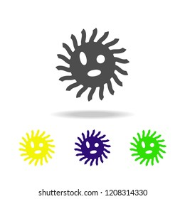 bacterium color icon. Element of virus color icon. Premium quality graphic design color icon. Signs and symbols collection color icon for websites, web design, mobile app on white background