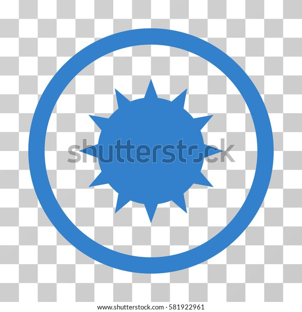 Bacterium vector pictograph. Illustration style is a flat iconic cobalt symbol on a transparent background.