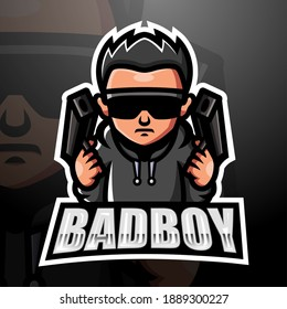 Bad boy mascot esport logo design