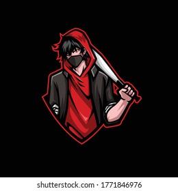 Bad Boy Mascot Gaming Esport Logo Template