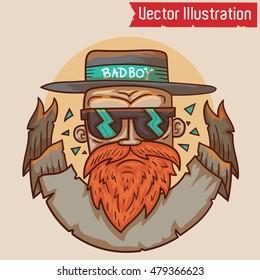 Bad boy - Vector illustration. EPS 10