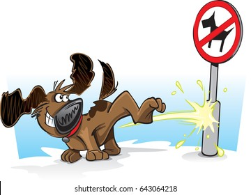 Bad Dog Cartoon A cartoon dog defies authority