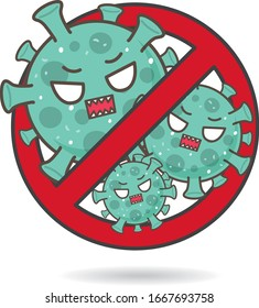 Bad Germs. Do not enter. Virus and Bacteria Protection. Corona virus Covid19.