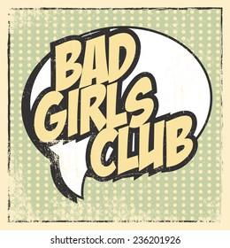 bad girl card, illustration in vector format