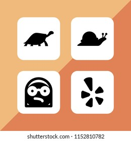 bad icon. 4 bad set with angry, slow and yelp vector icons for web and mobile app