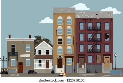 Bad neighborhood, EPS 8 vector illustration