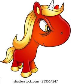 Bad Unicorn Vector Illustration Art