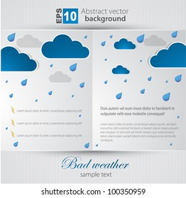 Bad weather background. sky with clouds and lightnings.