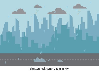 The bad weather in the city