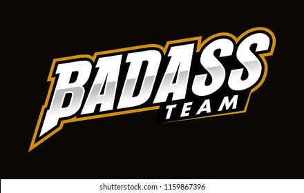 Badass typo letter Logo