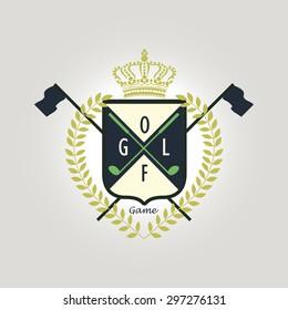 badge crest pattern for golf