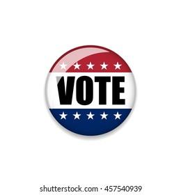 Badge Election USA 2016. Vector