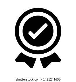 Badge in glyph design icon