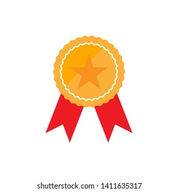Badge Icon in trendy flat style isolated, Award Medal  Vector Illustration - Vector