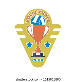 badge and logo of volleyball club vector illustration design