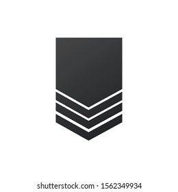 Badge military icon, army chevron. Stock Vector illustration isolated on white background.