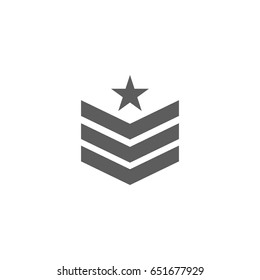Badge military icon in trendy flat style isolated on white background. Symbol for your web site design, logo, app, UI. Vector illustration, EPS