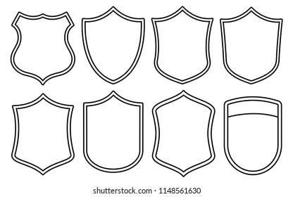 Badge Outline Shape Set