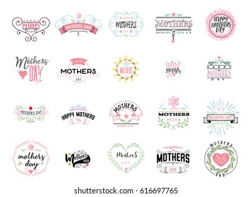Badge as part of the design - Mother's day. Sticker, stamp, logo - hand made.