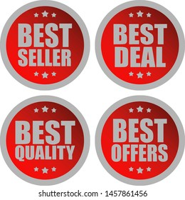 Badge Product Label Vector Template Free Download Bundle Best Seller, Offers, Quality and Deal