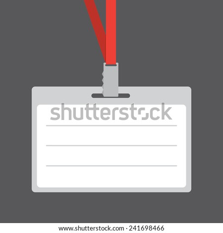 badge template identification card lanyard conference stock vector
