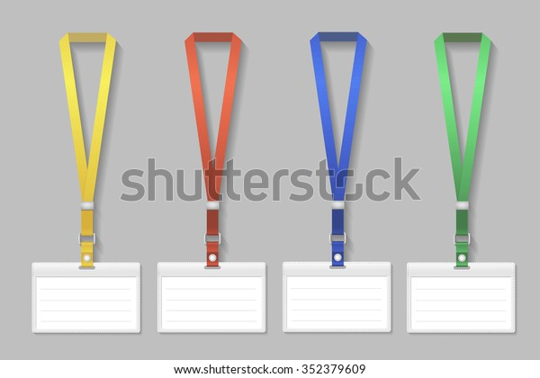 Badge Holder Template from image.shutterstock.com