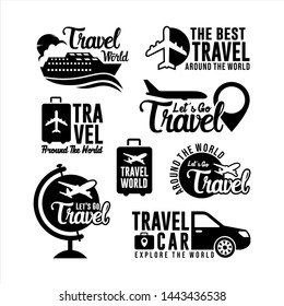 Badge Travel Logo world Collection