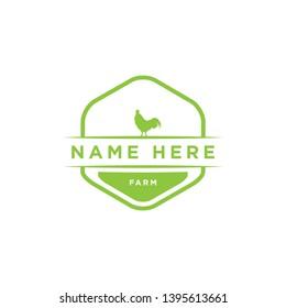 Badge Vector logo icon Chicken farm