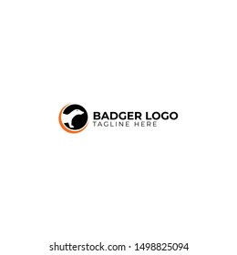 Badger Animal Logo Design Template