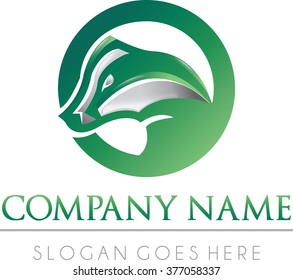 Badger flat modern professional logo animal vector mascot