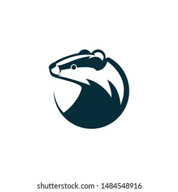 badger head logo template illustration