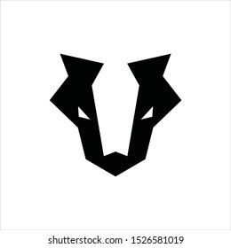 Badger Head Symbol Logo Design