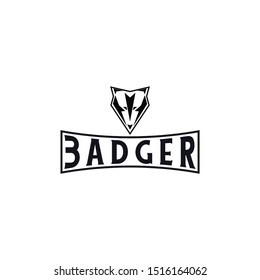 badger logo design. vector illustration
