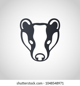 Badger logo icon design, vector illustration