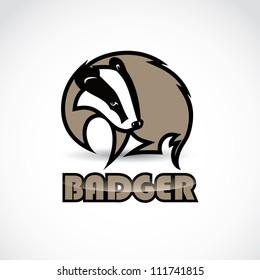 Badger sign - vector illustration