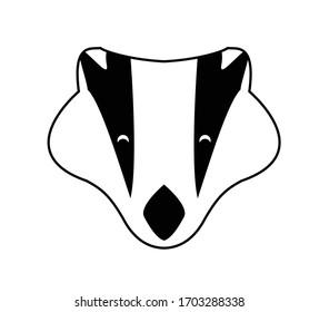 Badger vector illustration logo icon