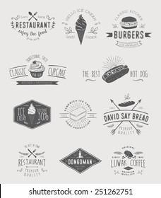 Badges set for food