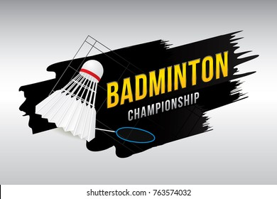 Badminton championship badge design.