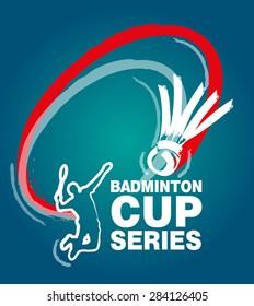 Badminton Cup series logo event