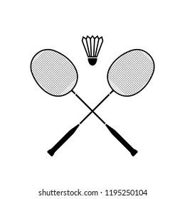 Badminton icon, logo on white background
