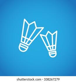 The badminton icon. Shuttlecock symbol