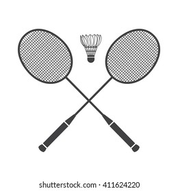 Badminton icon Vector Illustration on the white background.