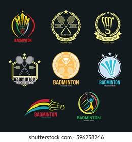 Badminton Logo Design Template. Vector Illustration