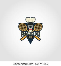 Badminton Logo Design Vector.