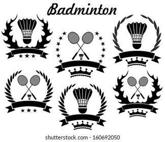 Badminton logo. Isolated badminton on white background