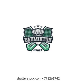 Badminton logo sport vector