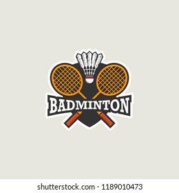 Badminton Logo Template