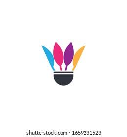 Badminton logo template vector icon design