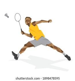 Badminton player sports vector design
