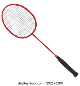 Badminton racket, badminton racket isolated, badminton, sport equipment